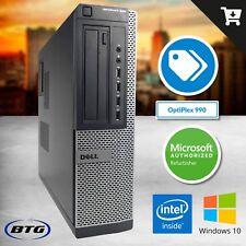 Dell Desktop Computer Quad Core Windows 10 Pro DVD WiFi HDMI 8gb Ram Fast HD Win