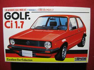 Volkswagen Golf Ci 1.7 1/24 Doyusha Motorized Plastic Model Kit VW Vintage Japan