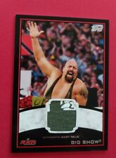 BIG SHOW 2012 TOPPS WWE RAW AUTHENTIC SHIRT RELIC CARD