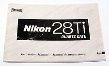 NIKON 28Ti Quartz Date Instructions Manual Book User Guide English Español