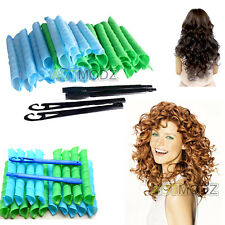 "18PCS For 75cm DIY Magic Curler Hair Twist Spiral Circle Magic Styling Tool 29"""