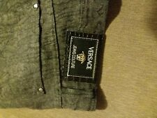 Versace jeans.Grey.34'' / 36''. Vintage 1990s.Patterned denim.Spotless condition