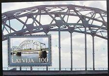 Latvia Souvenir Sheet - Dzelzcela Railway Bridge, Riga_2004- MNH.