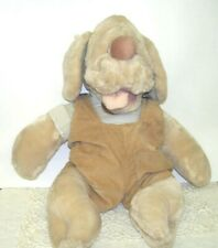 Wrinkles the Dog Plush Puppet by Ganz Bros  1981