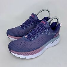 Hoka One One Clifton 5 Purple/ Pink Running Shoes Women's Size 7