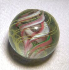 ANTIQUE  VICTORIAN  GERMAN GLASS HAND MADE  MARBLE 15a