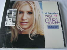 CHRISTINA AGUILERA: WHAT A GIRL WANTS (2-track CD Single, 1999, RCA) NEW/SEALED!
