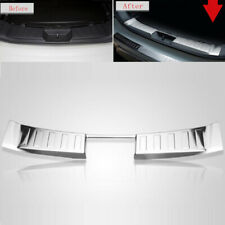 Fit Nissan Rogue X-trail T32 2014-2016 Rear Bumper Protector Sill Plate Cover