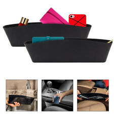 Car Seat Slit Gap Pocket Pouch Storage Bags Organizer Box for Mobile Phone Black