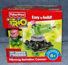 FISHER PRICE TRIO DC SUPER FRIENDS KIOLWOG BATTALION CANNON SET
