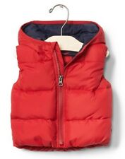 GAP Baby Boy 6-12 Months NWT Modern Red Warmest Zip-Up Puffer Hoodie Vest