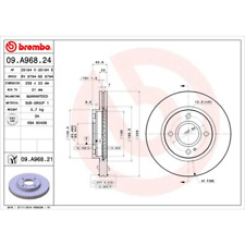 Brake Disc (2 Pcs) Coated Disc Line - Brembo 09.A968.21