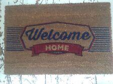 """ WELCOME HOME "" COCONUT COIR DOOR MAT RETRO VINTAGE STYLE QUALITY NON SLIP MAT"