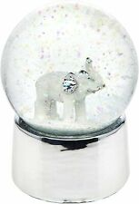 Philip Whitney Snow Globe Elephant in Silver Medium