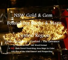 CD - NSW Gold Central Coast Region 20 - eBooks-35 FREE Forestry Fossicking Maps