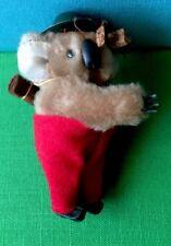 "Vintage 4"" Koala Bear Australian Souvenir Grabber Pencil Hugger Figure Doll"