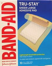 Band-Aid Tru-Stay Adhesive Pads Large Comfort Flex 2 7/8 x 4 Inches 10/Box