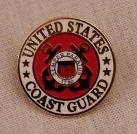 "United States Coast Guard Logo Red/White Lapel Pin USCG US  7/8"" inch"
