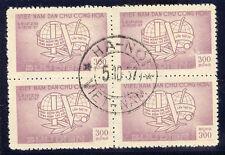 2072 VIETNAM 1957 World Trade Union Congress VFU Bl. of 4 MAJOR VARIETY/ERROR