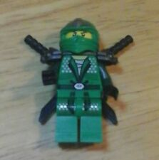 LEGO Ninjago LLOYD ZX Green Ninja miniFigure w/ 2 Shamshir black swords  new