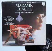 """LP Serge Gainsbourg - Jane Birkin  """"Madame Claude"""" - (EX/EX)"""