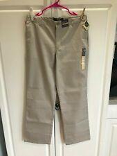 New Boys Cherokee Uniform Pants Size 16 Husky Adjustable Waist Oyster Color