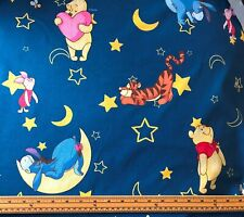 Disney Fabric - Winnie The Pooh - Blue - 100% Craft Cotton - Half Metre
