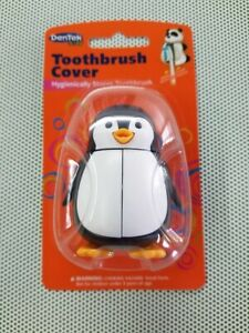 Toothbrush Cover DenTek Kids PENGUIN Hygienically Stores Your Child's Toothbrush