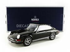 1/18 PORSCHE VOITURE MINIATURE DE COLLECTION PORSCHE 911 S 1973 - BLACK-NOREV187