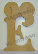 Minnie Mouse Letters in MDF (232mm X 18mm Thick)/wooden Craft Shape/birthday