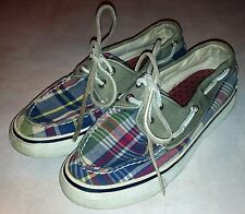 Sperry Top-Sider Women's Size 5 Boat Shoes Canvas Plaid 9605551 L7 CH171 Summer