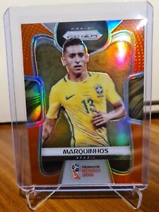 2018 Panini Prizm World Cup Orange Base Soccer Marquinhos 36/65