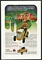 1971 INTERNATIONAL HARVESTER Cub Cadet Lawn and Garden Tractor Riding Mower AD