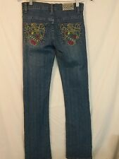 COOGI Women's Embroidered  Jeans SZ 3/4 (Bb)