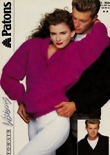 Patons Mohair Visions knitting pattern Women, Man Sweaters