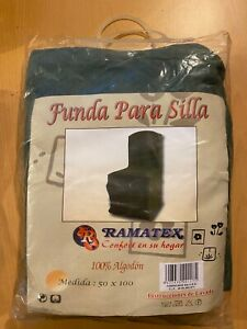 Cubierta Sillón Silla 100% Algodón Tonos De Verde 50 100 Usado Para Exposición