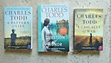 Charles Todd Lot of 3 Large Preowned Trade Paperback Bess Crawford Mysteries