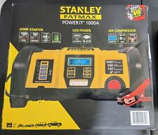Stanley Fatmax Powerit 12v Jump Starter Usb Charger Compressor 1000a