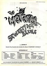 "8/11/86pg27 Album Advert 15x10"" The Meteors, Summertme Blues (stampede)"