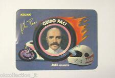 VECCHIO ADESIVO MOTO / Old Sticker GUIDO PACI KOJAK YAMAHA MAX HELMETS (cm 12x9)