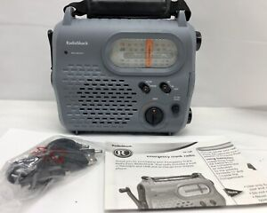 Radioshack Emergency Crank Radio AM FM Shortwave 20-238 USB & Flashlight
