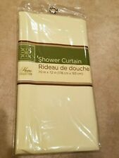 NEW HOME COLLECTION SHOWER WATER CURTAIN 70X72 INCHES CREME RIDEAU DOUCHE BATH