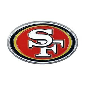 Fanmats NFL San Francisco 49ers Diecast 3D Color Emblem Car Truck RV 2-4 Day Del