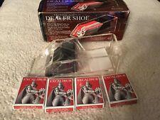 New listing Excalibur 4 Deck Card Dealer Shoe Premium Acrylic, Poker & Blackjack,cards,game