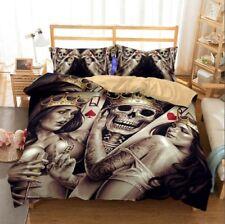 3D Bedding Set skull Print Duvet cover set lifelike bedclothes with pillowcase