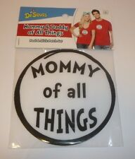 Dr Seuss Mommy and Daddy of All Things Set of 2 Peel + Stick Patches for Costume