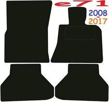 Calidad de lujo a medida Alfombrillas De Coche BMW X6 e71 2008-2017 ** negro **