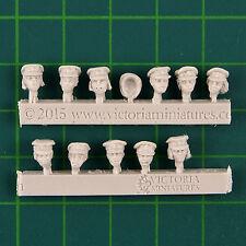 Female Dress Cap Heads x11 Victoria Miniatures