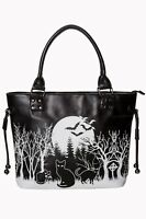 Woodland Gothic Bats Horror Rockabilly Gothic Halloween Handbag Banned Apparel