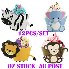ANIMAL ZOO CUPCAKE WRAPPERS 12 PIECES BIRTHDAY PARTY SUPPLY CAKE DECORATION KIDS